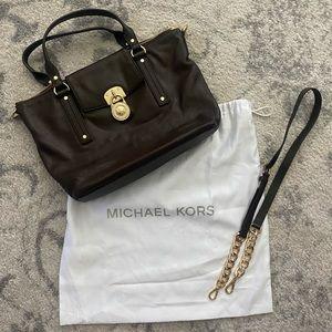 Michael Kors espresso brown purse.
